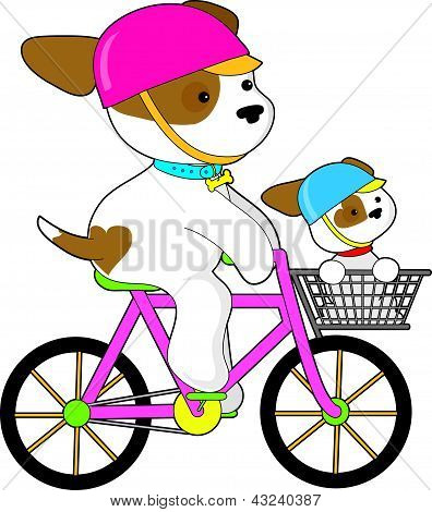 Cute Puppy on Bike
