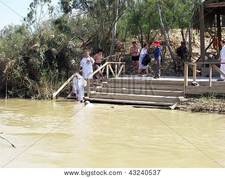 Qasr Al-yahud, Israel - March 05: Pilgrims Are Baptized In The
