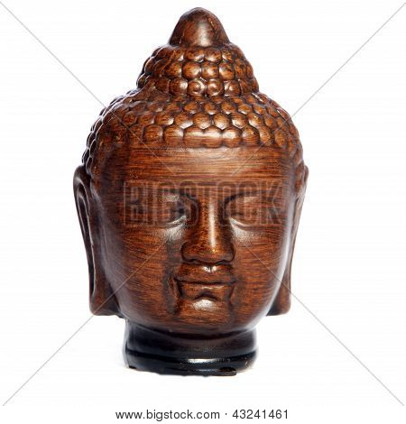 Wooden Buddha Head Carving