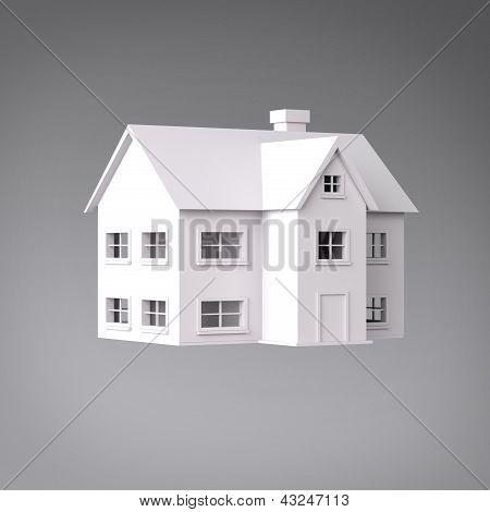 3D house three quarter view
