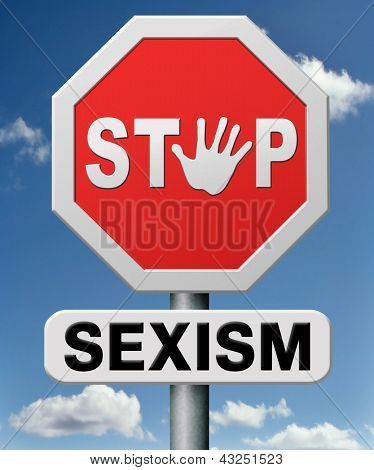 stop sexism, gender roles, feminism or girl power all sexual discrimination issues stereotypes