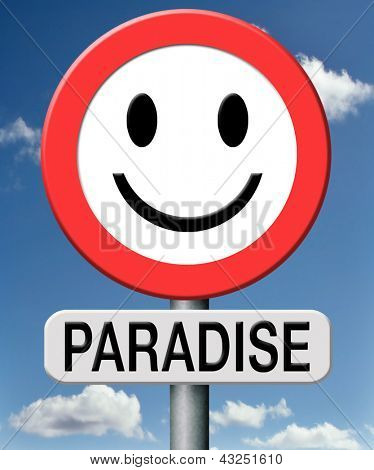 paradise vacation gives joy and happiness
