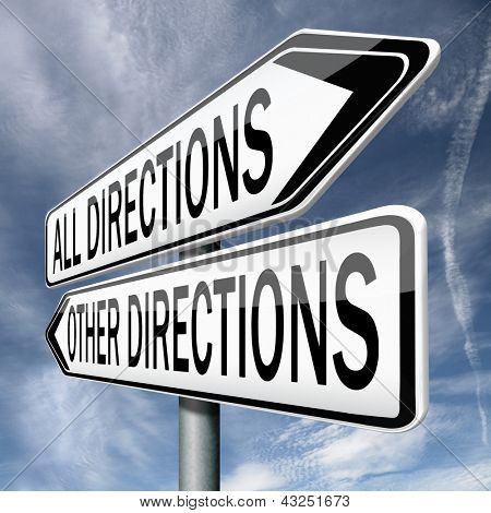 difficult or impossible choice, all roads lead to Rome, lost directions