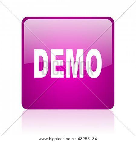 demo violet square web glossy icon