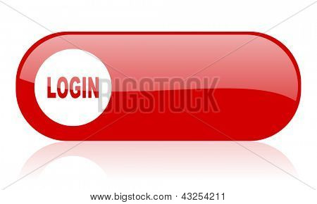 login red web glossy icon