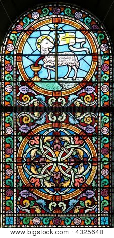 The Sacrificed Lamb (stained Glass Window)