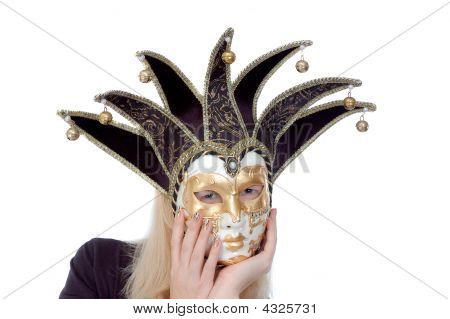 Beautiful Woman In A Mask