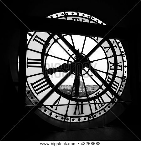 PARIS - MAY 08: The Orsay Museum (Musee d'Orsay) clock, on May 08, 2012 in Paris, France. The Orsay Museum is the largest in the world collection of impressionist and post-impressionist masterpieces.