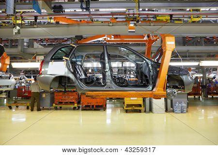 TOGLIATTI - SEPTEMBER 30: Body of passenger cars at Avtovaz factory on September 30, 2011 in Togliatti, Russia. In November 8, 2012 in Russia sold 100000th car LADA Granta.