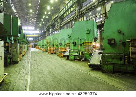 TOGLIATTI - SEPTEMBER 30: Workshop at Avtovaz factory on September 30, 2011 in Togliatti, Russia. AvtoVAZ won contest