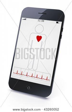Uma imagem de um telefone móvel diagnóstico