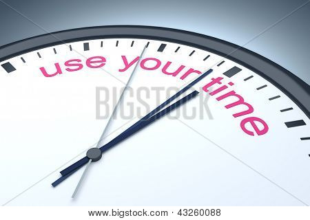 An image of a nice clock with use your time