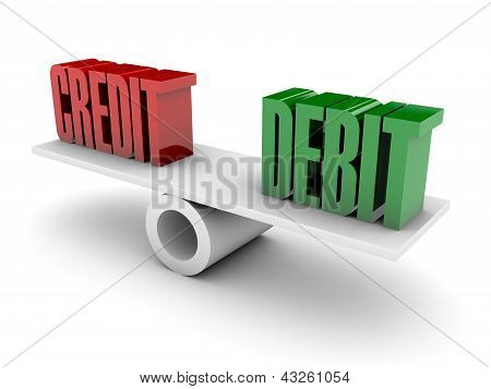 Credit and Debit balance.