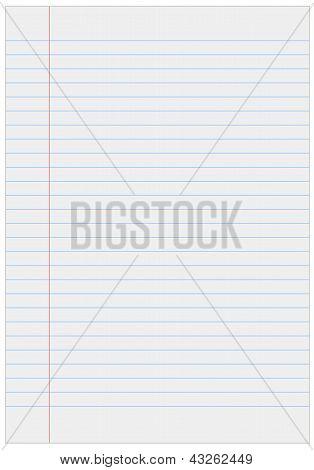 Papel de caderno com linhas