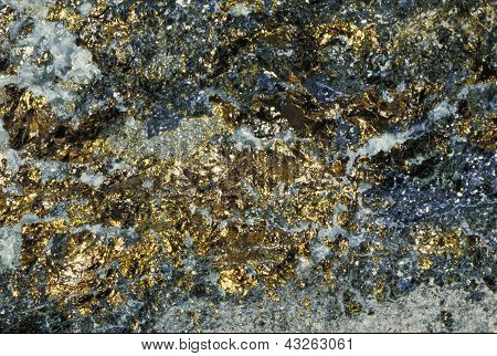 Real Scanned Natural Gold in Stone Texture
