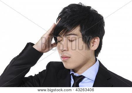 young businessman scratching his head, hard decision,