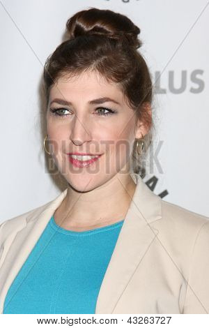 "LOS ANGELES - MAR 13:  Mayim Bialik arrives at the  ""Big Bang Theory"" PaleyFEST Event at the Saban Theater on March 13, 2013 in Los Angeles, CA"