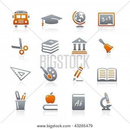 Education Icons // Graphite Series