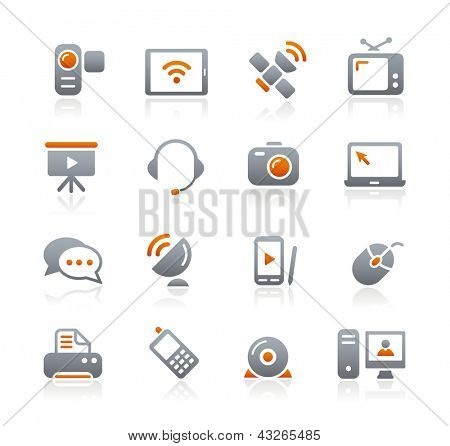Communication Icons // Graphite Series