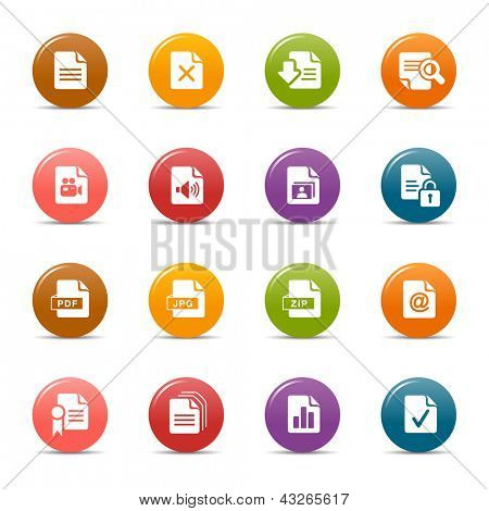 Colored Dots - File format icons