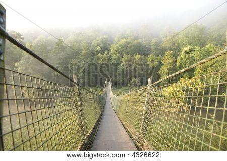 Suspensão pé Bridge Over Rio