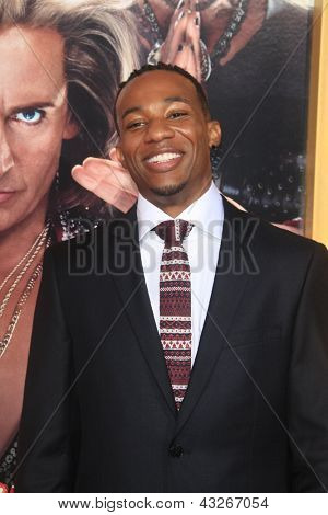 LOS ANGELES - MAR 11:  Arlen Escarpeta arrives at the World Premiere of