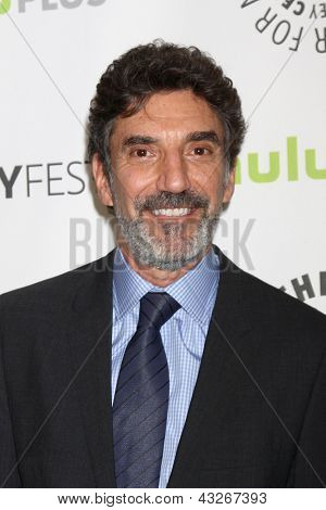 """LOS ANGELES - MAR 13:  Chuck Lorre arrives at the  """"Big Bang Theory"""" PaleyFEST Event at the Saban Theater on March 13, 2013 in Los Angeles, CA"""