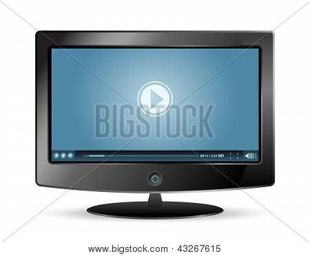 Lcd Monitor Video Player