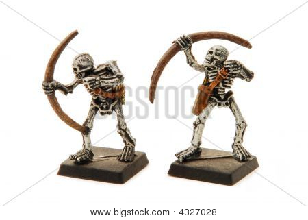 Isolated Skeleton Miniatures