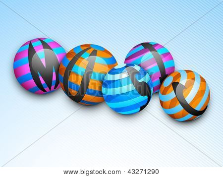 Music abstract background with colorful disco balls.