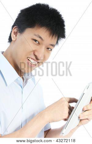 Homem sorridente