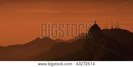 Rio de Janeiro Hills at Sunrise