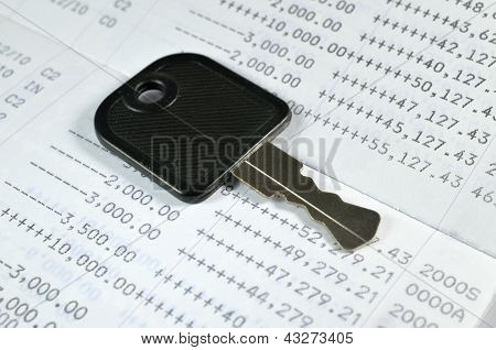 A Key On Account Passbook