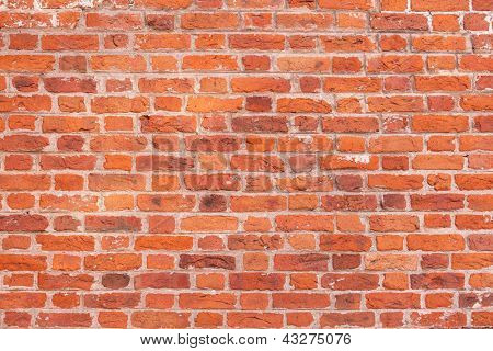 Image of cracked wall of red bricks