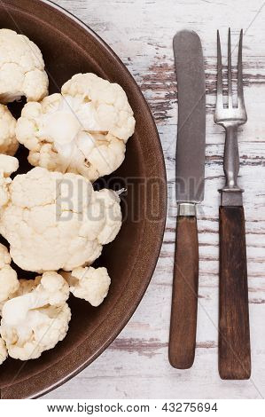 Luxurious Cauliflower Background.