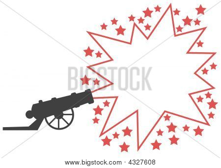 Advertising Gun With Red Star