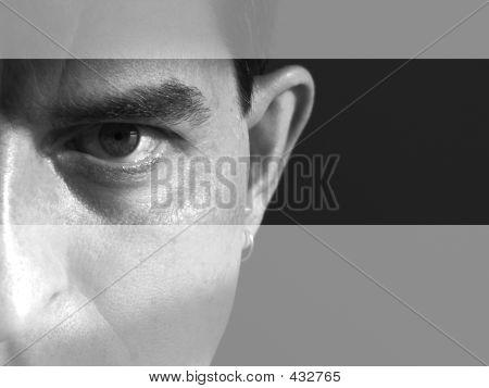 Streifen-Gesicht