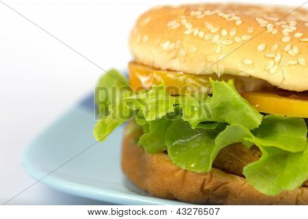 Sandwich With Breaded Chicken, Tomato