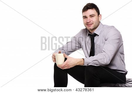 Business Man Isolated On A White Background