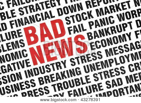 Typographical Print Of Bad News