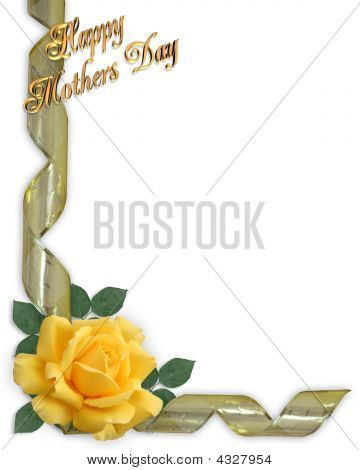 Mothers Day Border Yellow Rose