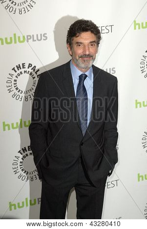 """BEVERLY HILLS - MARCH 13: Chuck Lorre arrives at the 2013 Paleyfest """"The Big Bang Theory"""" panel on March 13, 2013 at the Saban Theater in Beverly Hills, CA."""