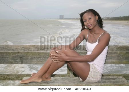 Seated Model Posing