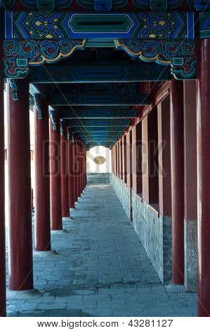 Porch Columns In Forbidden City