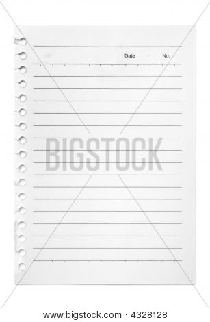 Blank Note To-do List Held