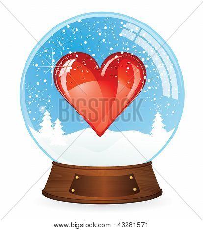 Heart in Snow globe