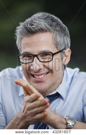 Portrait Of A Businessman Smiling