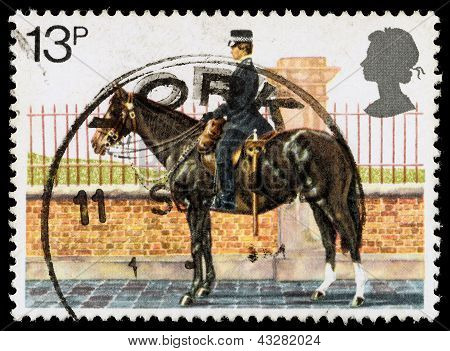 Britain Police Postage Stamp