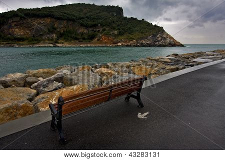 Water Coastline Bench