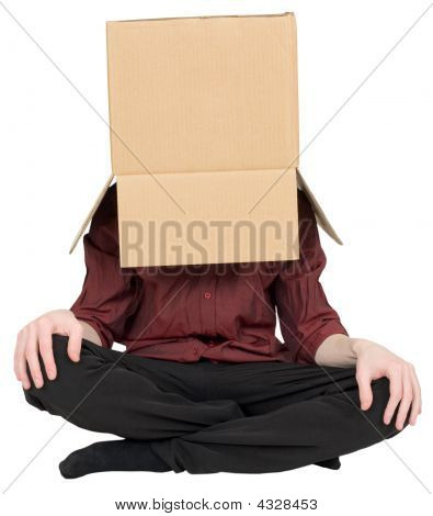Man With A Box On A Head